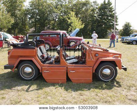 1974 Volkswagen Thing Orange Car Side View