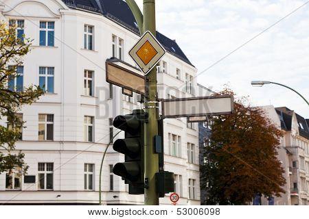 Traffic Light And Crossroad