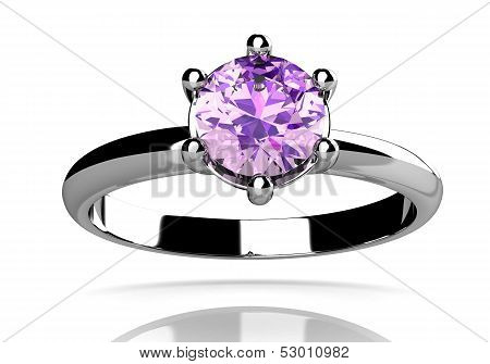 Amethyst Ring (high Resolution 3D Image)