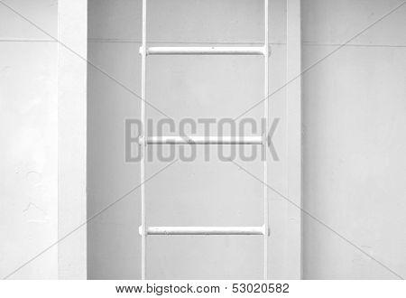 White Metal Naval Ladder Closeup Detailed Texture