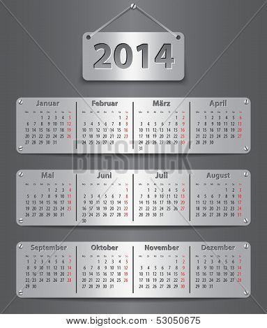 2014 German Calendar