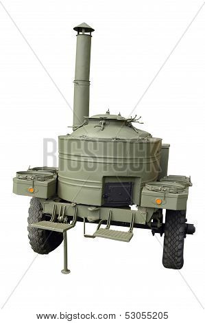Old Green Military Mobile Kitchen