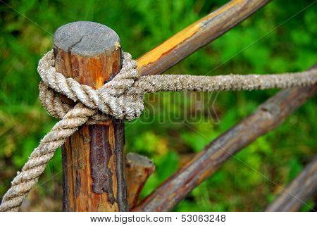 Rope on pole
