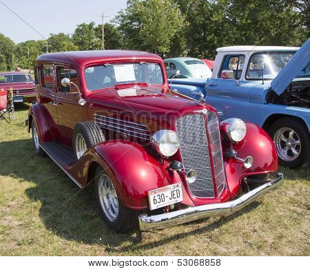 1934 Buick 57 Red Car