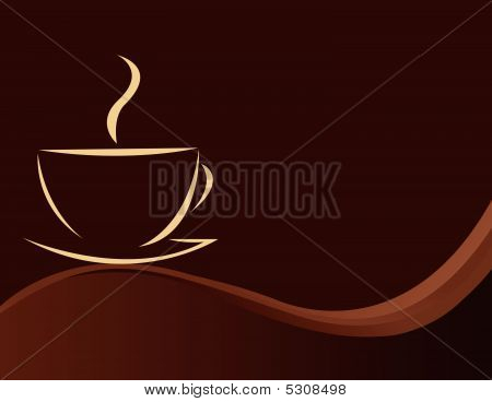 Vector Illustration Of Coffee Background