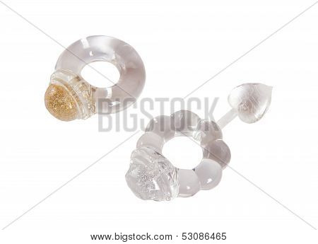 Two Transparent Rings For Penis Erection