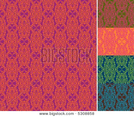 Seamless Wallpaper Pattern (vector)