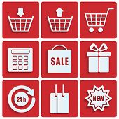 shopping icons.set of icons for online shop.vector poster