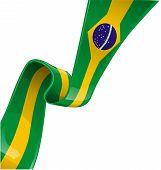 brazil ribbon flag on white background - vector projetc poster