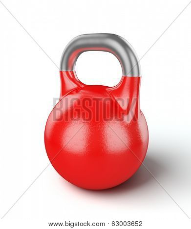 Gym equipment weight kettle bell isolated on white