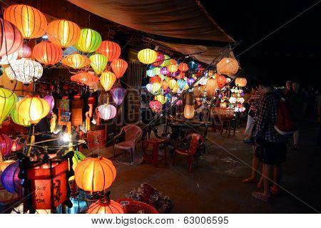 Vietnamese street stall retailing lanterns