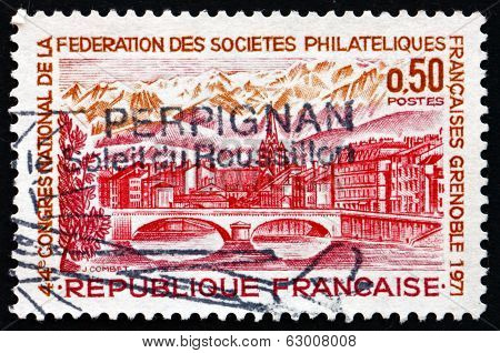 Postage Stamp France 1971 View Of Grenoble