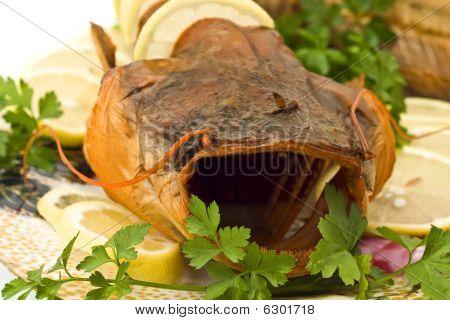 Shore Dinner - Closeup Of Fresh-water Catfish