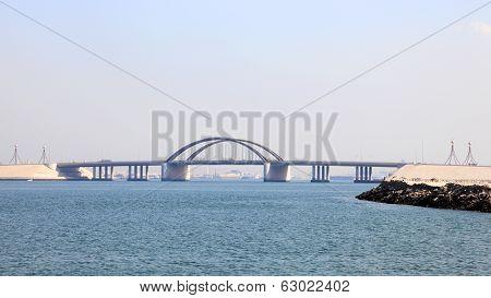Sheikh Khalifa Bridge In Bahrain
