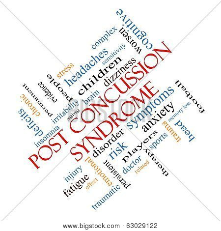 Post Concussion Syndrome Word Cloud Concept Angled