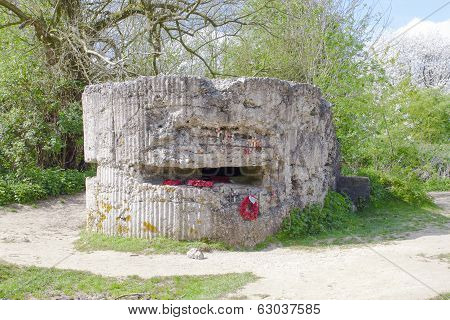 Ww1 Hill 60 Bunker In The Trench Belgium World War.