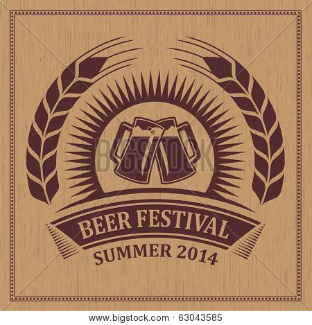 Beer festival icon symbol - vector design