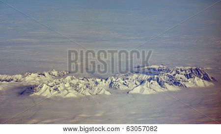 Peaks Of The Tatra Mountains In The Clouds