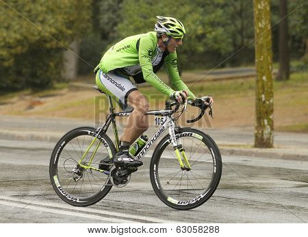 BARCELONA - 30, MARCH: Michel Koch of Cannondale Team rides during the Tour of Catalonia cycling race through the streets of Monjuich mountain in Barcelona on March 30, 2014