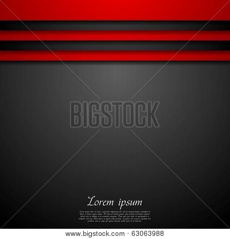 Red and black abstract vector background