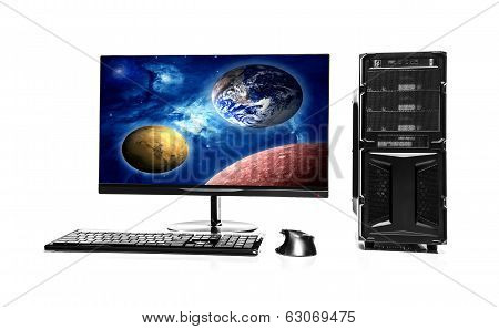 Computer. Elements Of This Image Furnished By Nasa.