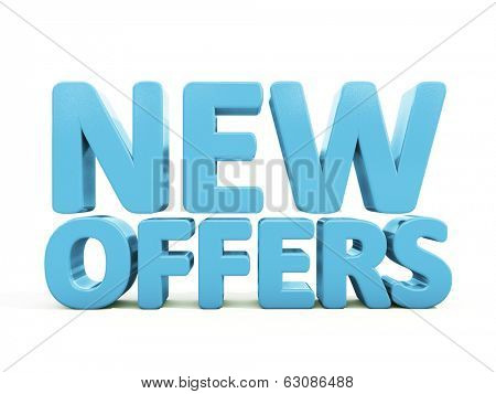New offers icon on a white background. 3D illustration