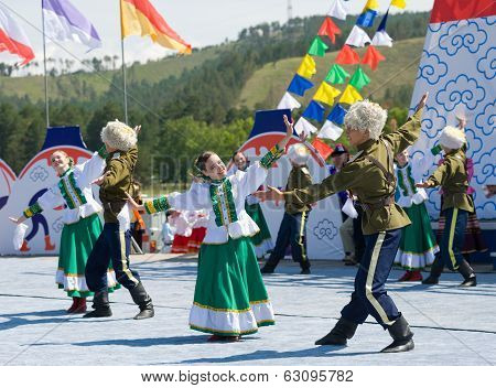 Dancers At World Mongolians Convention
