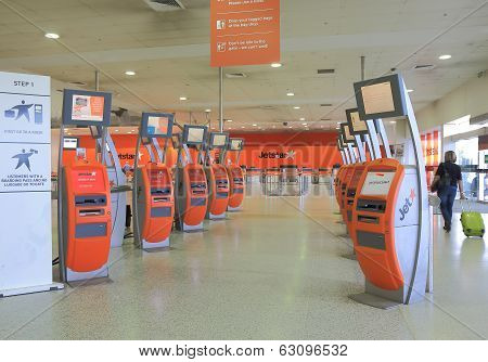 Airport check in counter Jetstar