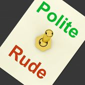 Polite Rude Lever Showing Manners And Disrespect poster