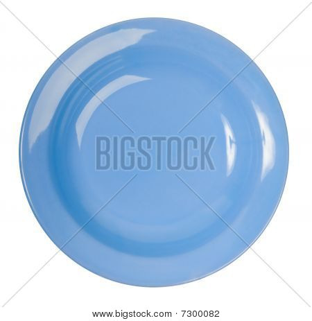 A Blue China Plate