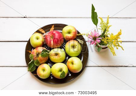 Fresh Harvest Of Apples