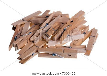 Classic Wooden Pin Isolated On White