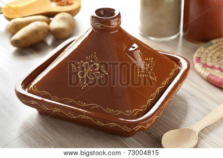 Moroccan square tagine in the kitchen