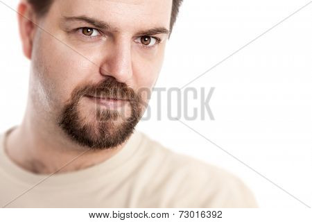 A handsome young man with a goatee beard