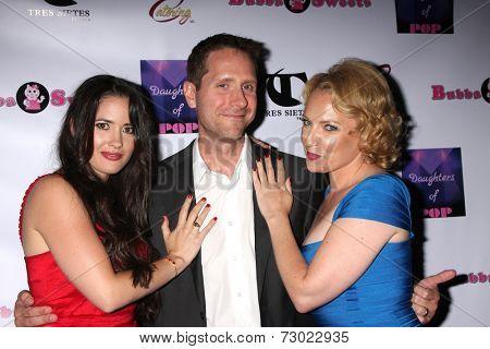 LOS ANGELES - SEP 18:  Anna Borchert, Rich Carroll, Heather Lee Moss at the