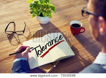 A Man Brainstorming about Tolerance