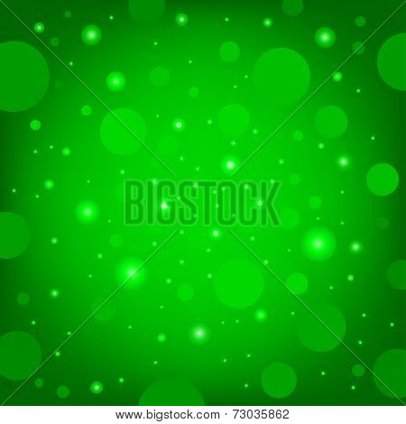 The circular random effects green dark bokeh background poster