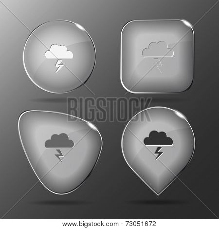 Storm. Glass buttons. Vector illustration.