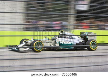 SINGAPORE - SEPTEMBER 20:  Nico Rosberg (Ger) Mercedes Mercedes. Formula One World Championship, Singapore Grand Prix, Marina Bay Street Circuit, Singapore 20th SEPT 2014