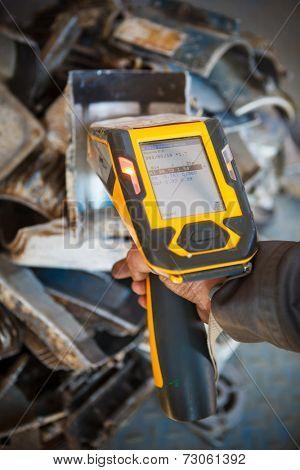 handheld XRF analyzer spectrometer for scrap metal in action poster