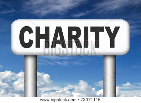 give charity donation help the needy giving a gift and donate for a good cause fund raising
