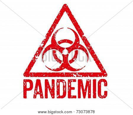 Red Stamp on a white background - Pandemic