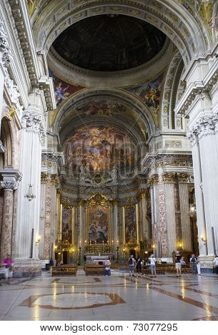 ROME, ITALY - SEPTEMBER 22, 2014: Church of St. Ignatius of Loyola at Campus Martius in Rome.