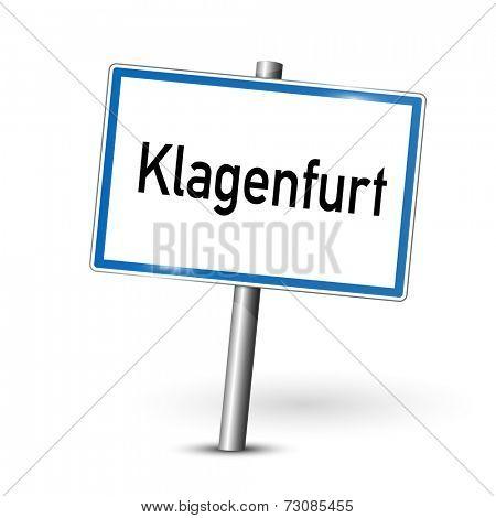 City sign - Klagenfurt - Carinthia, Austria