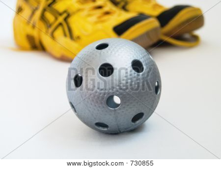 Floorball Ball And Shoes