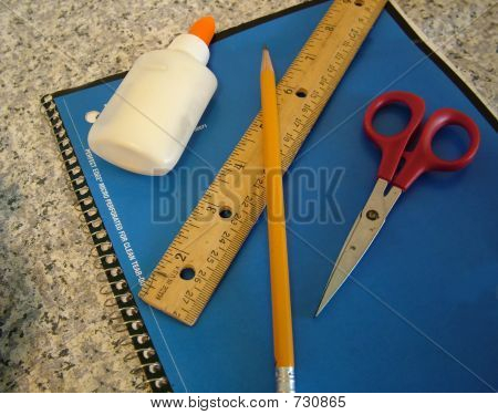 Notebook Pencil Glue