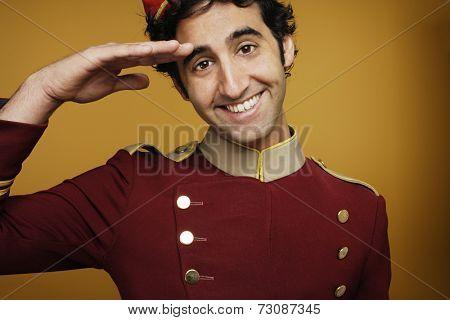 Bellboy saluting