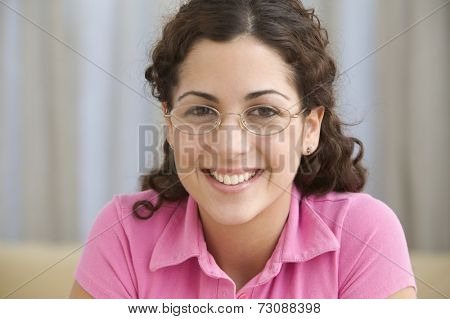 Portrait of smiling young woman