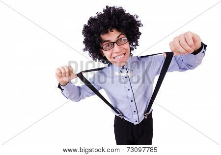 Funny guy isolated on the white background
