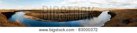 China's Inner Mongolia hulun buir grassland scenery poster